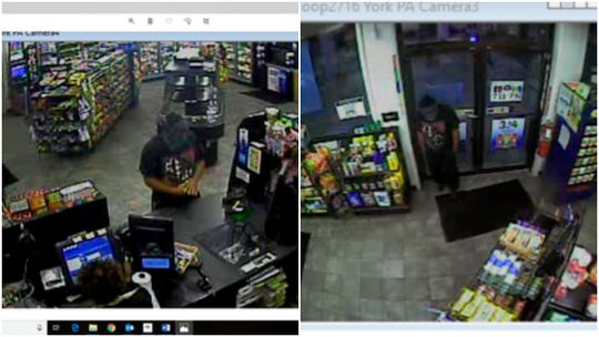 These are screen grabs of a suspect who police say robbed a Spring Garden Township store on Tuesday, Aug. 6, 2019.