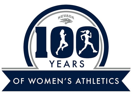 Nevada's logo celebrating its 100 years of women in sports.