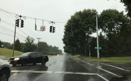 Storm knocks out traffic lights across area.