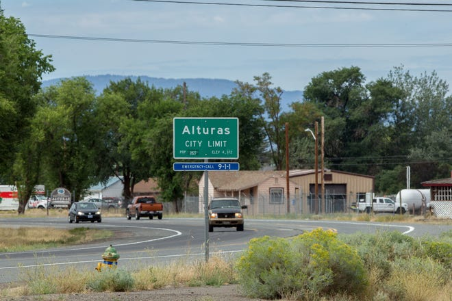 Traffic on Highway 395 as seen Tuesday, Aug. 6, 2019 on the east entrance into Alturas, California.
