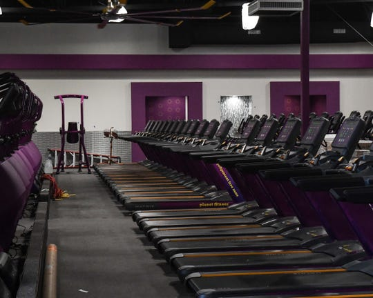 The Planet Fitness facility includes numerous treadmills, machines and free weights. Aug. 7, 2019.
