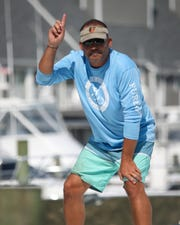 Tommy Hinkle of Ocean City prepares to dock his boat, the Fish Whistle, at the White Marlin Open on Thursday, Aug. 8, in Ocean City.