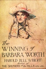 "Cover illustration by Cootes for the best-selling ""The Winning of Barbara Worth."""