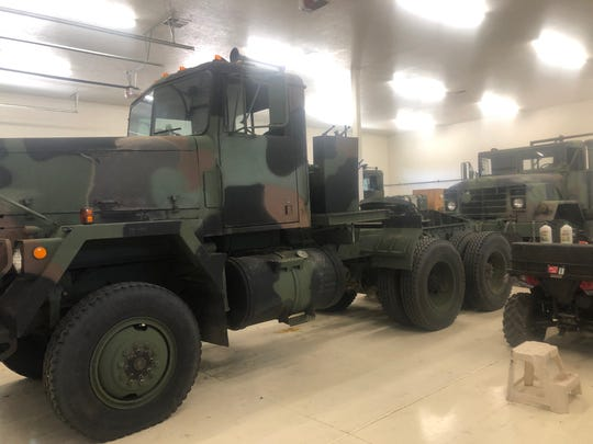 Two of the military vehicles that belong to Dr. Gary Jones of the Military Vehicle Preservation Association.