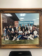Dr. Gary Jones and others at the new Snow Canyon Clinic back in 1999,