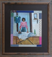 """Tales of her mother's life inspire many of Penny Hackett's paintings, such as """"Mamie Lee Ironing."""""""