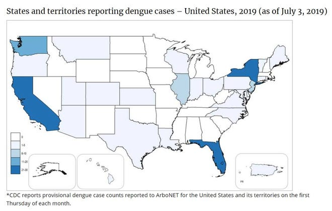 According to the Florida Department of Health, the state has 65 cases of the illness as of Saturday.