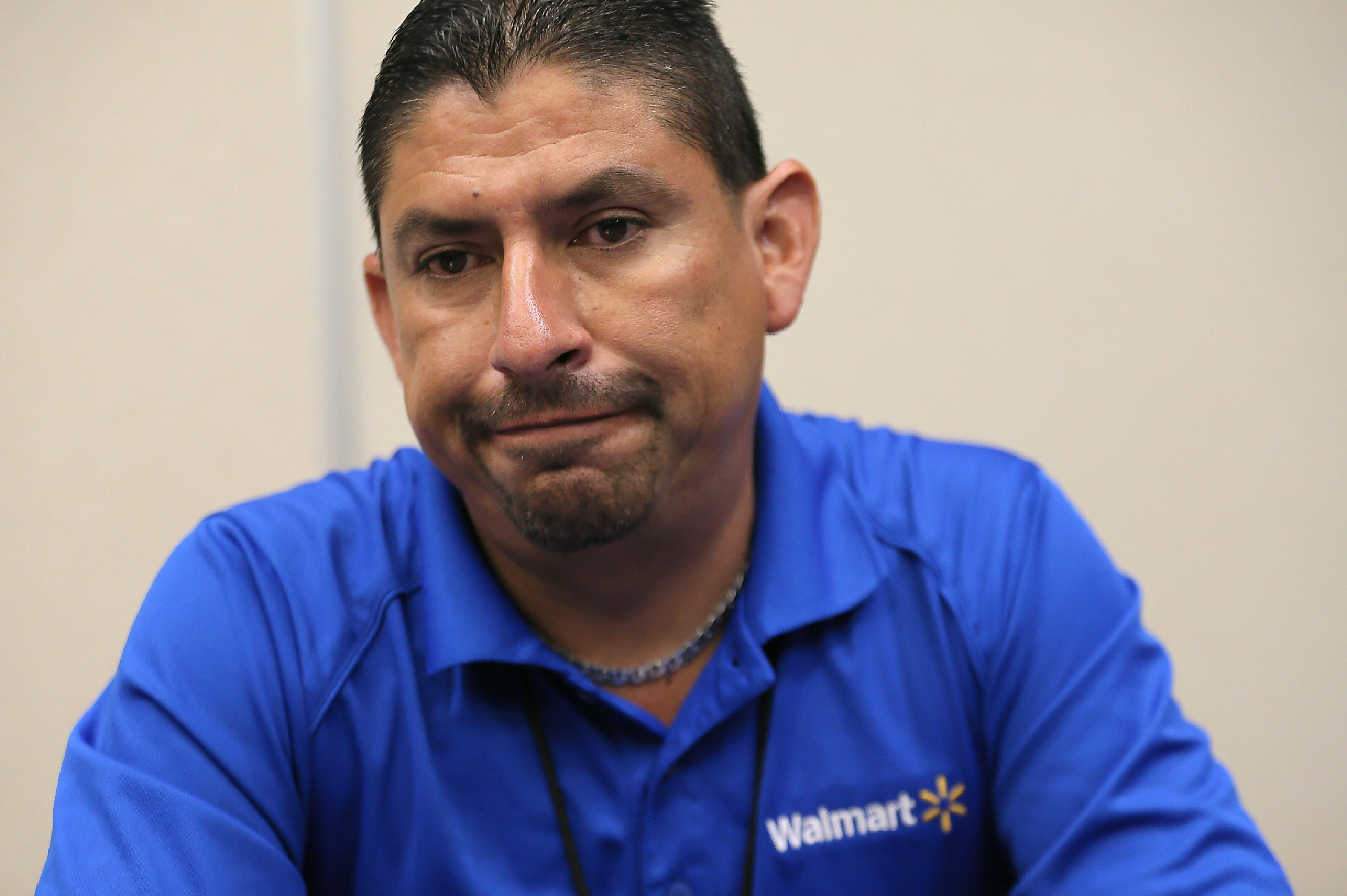 Walmart store manager Robert Evans on Thursday, Aug. 8, 2019, describes the scene at his store after a gunman opened fire Saturday, killing 22 and wounding 25 others. Evans rushed customers out a side door and told them to run.