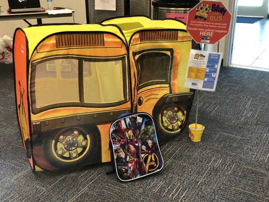 Bus-themed collection points were used by the United Way of Ventura County for its Stuff the Bus Project.