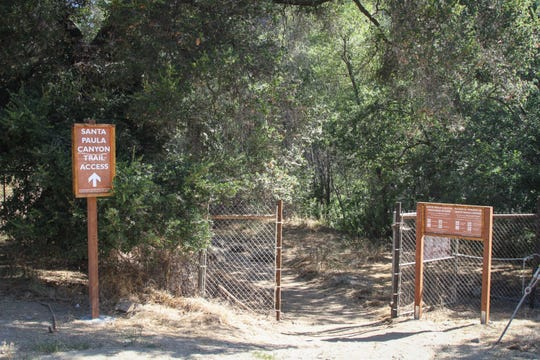 Entrance to a restored access trail to Los Padres National Forest and the Punch Bowl.