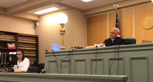 Cumberland County Superior Court Judge Michael Silvanio on Thursday accepted a guilty plea from Luis A. Santiago, a suspended Bridgeton police officer. Silvanio sentenced Santiago to one year of probation in keeping with terms of an agreement between the defense and prosecution.