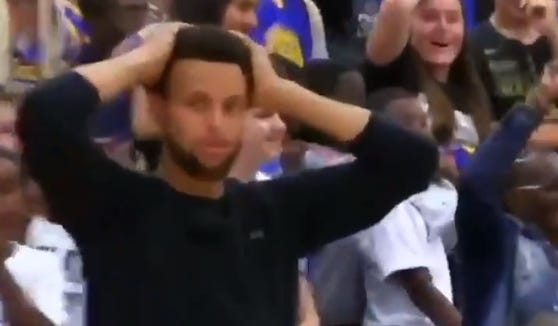 When you nail a crossover and three-pointer that shocks Stephen Curry.