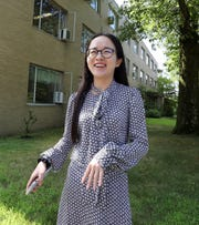 Columbia University graduate student Xiaomeng Jin at Lamont-Doherty Earth Observatory in Palisades, where she is studying ocean and climate physics Aug. 8, 2019.