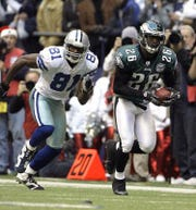 Lito Sheppard, shown returning an interception against the Dallas Cowboys, was a first-round pick of the Eagles in 2002.