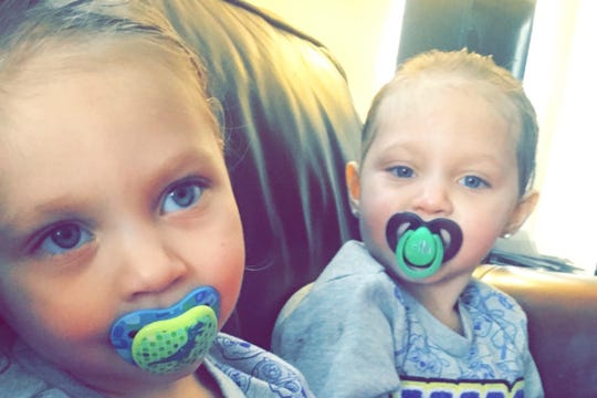 Four-year-old twins Skylar and Veronica Marchuk died in a fire in Long Neck on Wednesday.