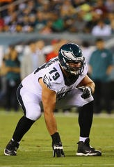 Todd Herremans started 124 of 127 games as an Eagle during his 10 seasons with the team.