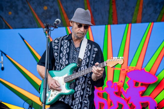 Paul Barrere of Little Feat performs at the New Orleans Jazz and Heritage Festival on Sunday, May 5, 2019, in New Orleans.