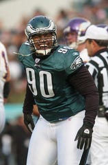 Corey Simon was the Eagles' first-round draft pick in 2000, and played for the team through 2005.