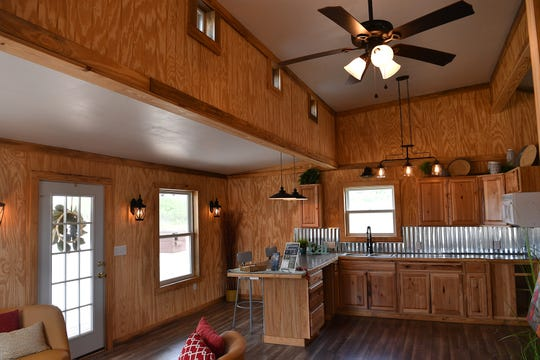 The student-built house at the WFISD Career Education Center is a one-bedroom, one bath with 730-square feet, a lot of natural light and a large front porch. It will be up for auction Tuesday August 13 at the CEC.