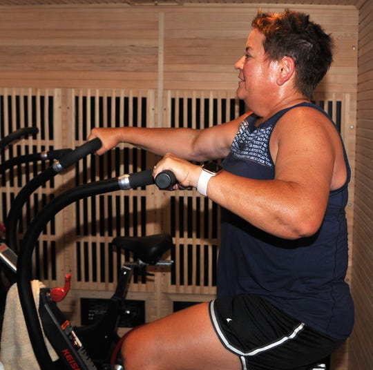 HOTWORX (Wichita Falls, TX - Call Field) member Jamie Rice is doing Hot Blast, which she said is probably her favorite class. HOTWORX franchisee Nicki Bomer said the infrared energy strengthens and activates the regenerative process of the body and helps accelerate workout recovery.