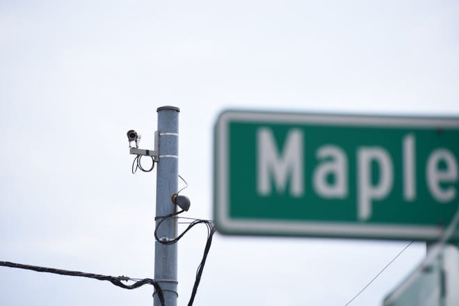 Two cameras have been installed at the intersection of Maple Avenue and Taylor Street to improve traffic flow.
