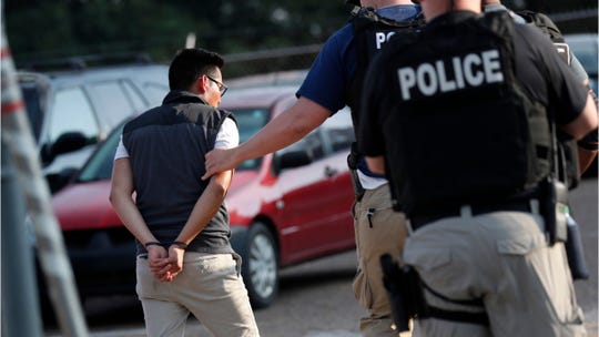 Some of the people detained in U.S. immigration raids at seven Mississippi poultry plants now are headed to ICE processing facilities in Jena and Pine Prairie.