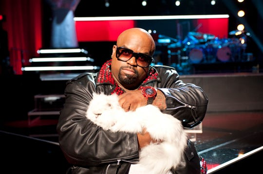 Cee Lo Green poses with his cat, appropriately named Purrfect.