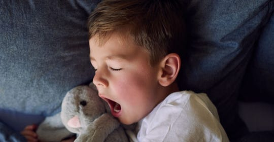 Experts suggest that children ages 6 to 12 should get at least nine hours of sleep each day.