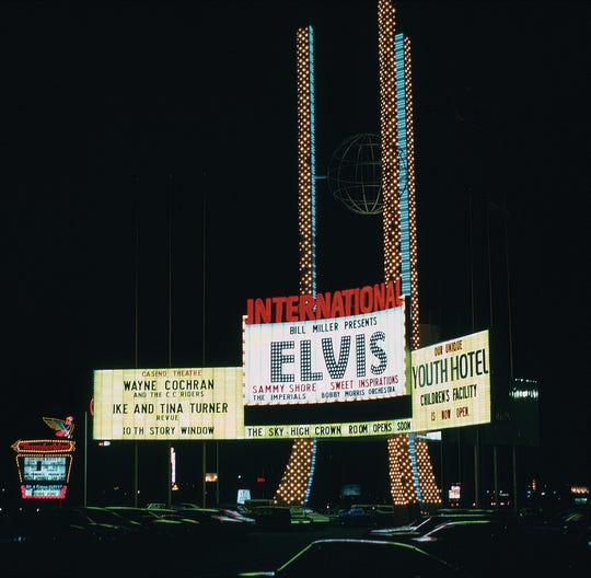 Billing for Elvis Presley's Las Vegas residency at the International Hotel in 1969.