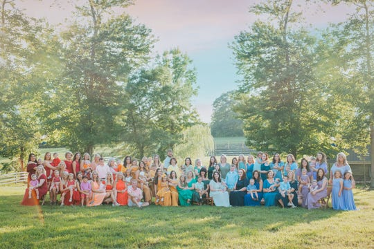 Mothers pose in a sea of colors to celebrate and remember rainbow babies, or babies born after miscarriage. The photo shoot from Ashley Sargent has spread widely across the internet.