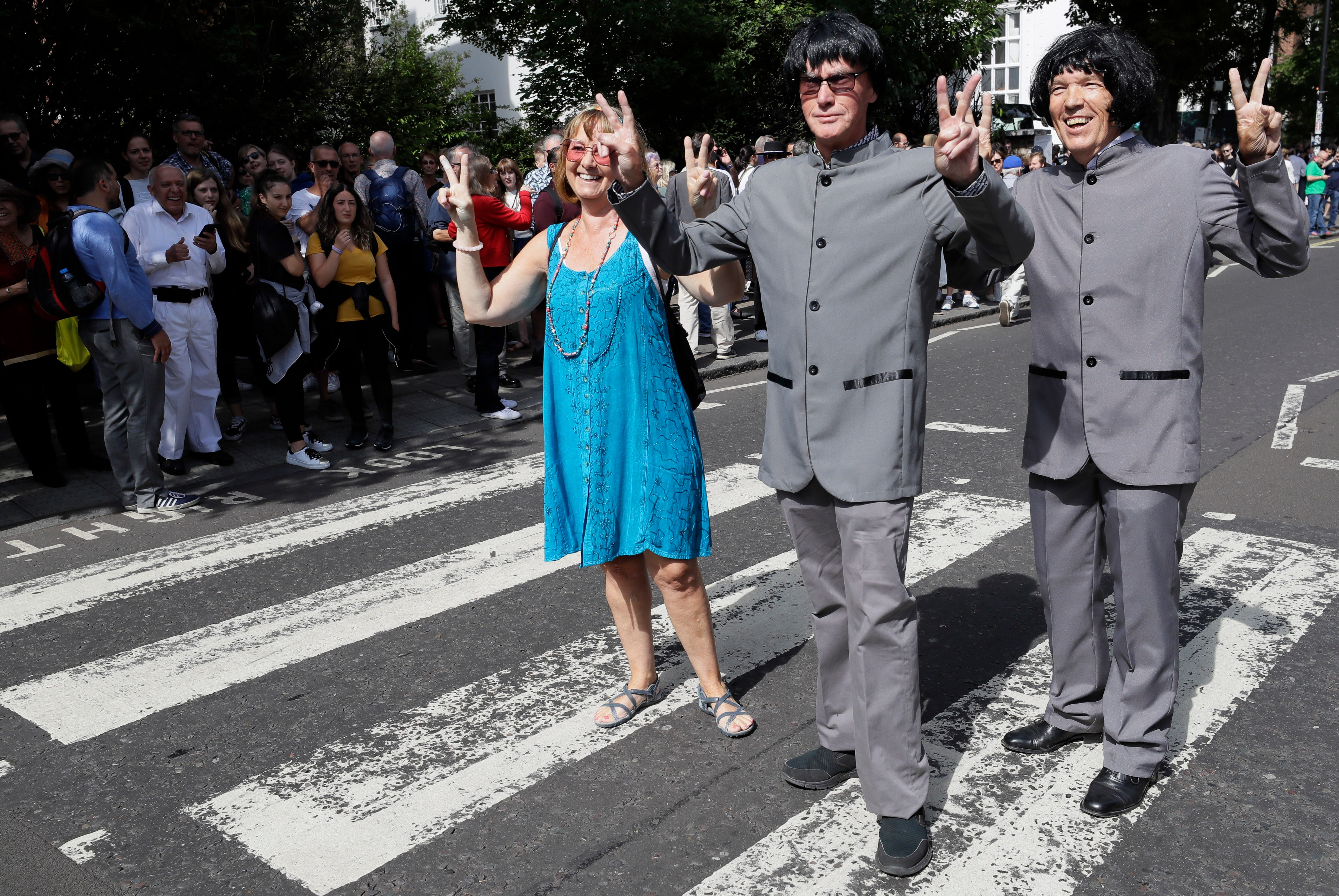 Beatles fans celebrate 'Abbey Road' cover's 50th anniversary