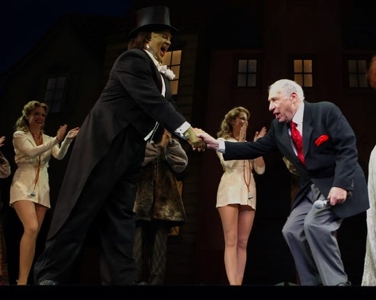 """Shuler Hensley, as The Monster, and producer/writer/composer Mel Brooks at a performance of Broadway-bound """"Young Frankenstein"""" in Seattle on  Aug. 23, 2007. ABC plans a live musical based on it."""