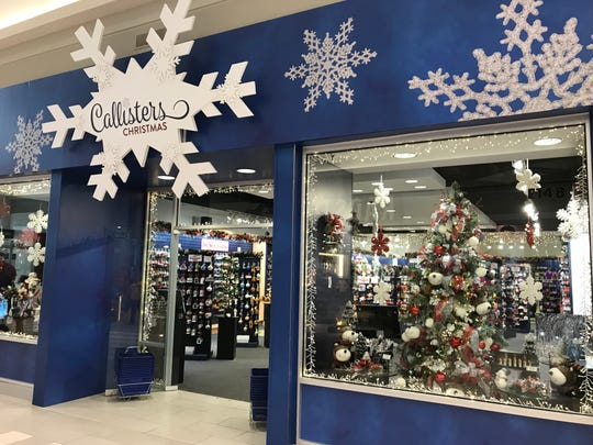 Callisters Christmas is open in the Mall of America. Its Fox River Mall branch opens in October.