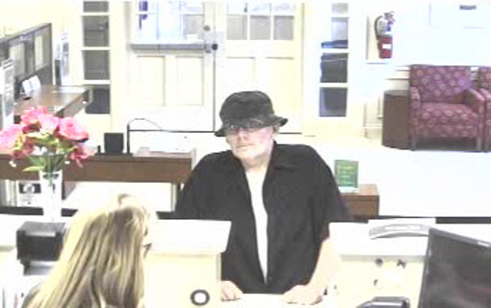 Manchester police are searching for a man who robbed the Wells Fargo Bank Thursday.