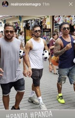 Ronnie, Vinny and Pauly D on the boardwalk in image from Ronnie Magro's Instagram