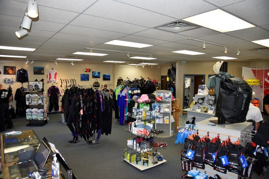 The inside of Sub-Aquatic Sports and Service, 347 N. Helmer Road in Springfield, on Wednesday, August 7, 2019.