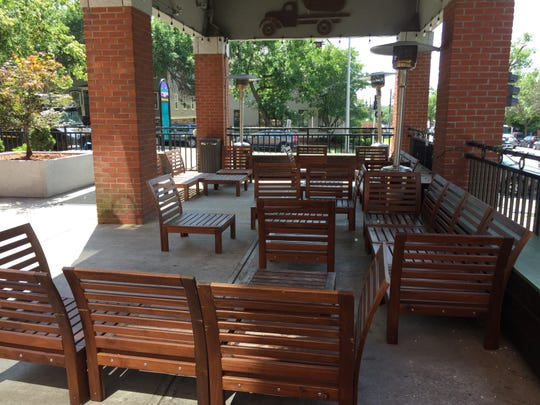 The outdoor patio at The Garage, which is shutting down its Burlington bar after business Saturday night.