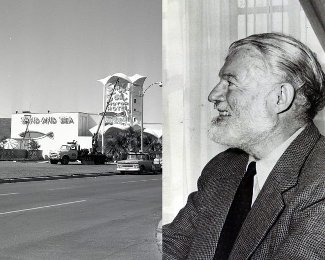 Ernest Hemingway stayed at the Sand and Sea Resort Hotel in March 1959 and agreed to an interview with an 18-year-old Del Mar journalism student who recognized his idol.