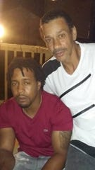 Dion Green with his father, Derrick Fudge, who was killed in the Dayton mass shooting.
