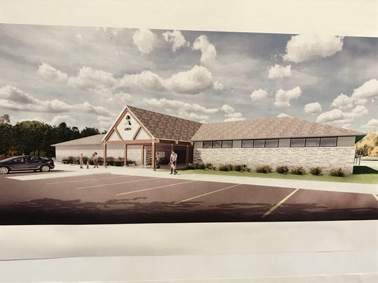 Concept design for the clubhouse at Lou Dennis Park in Newburgh was presented at a meeting of the Parks Board Thursday.