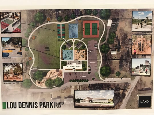 Lamar Architecture and Design have released some conceptual drawings of a redeveloped Lou Dennis Community Park. Amenities include a splash pad, an accessible playground and an event rental facility.