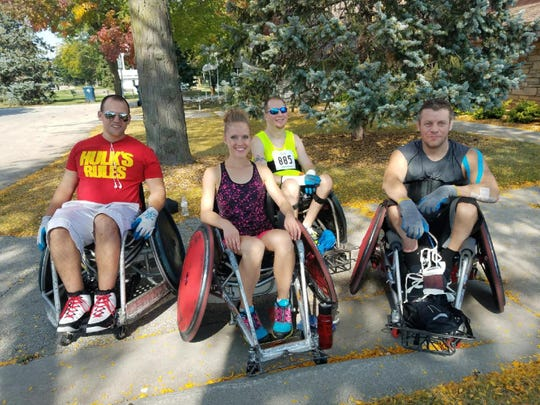 The goal of the WASA Challenge is to complete 400 laps around the track. Participants, including some WASA athletes, will either push a wheelchair or wear eye shades. The event aims to show those living without a disability what it's like to have a visual impairment or use a wheelchair.