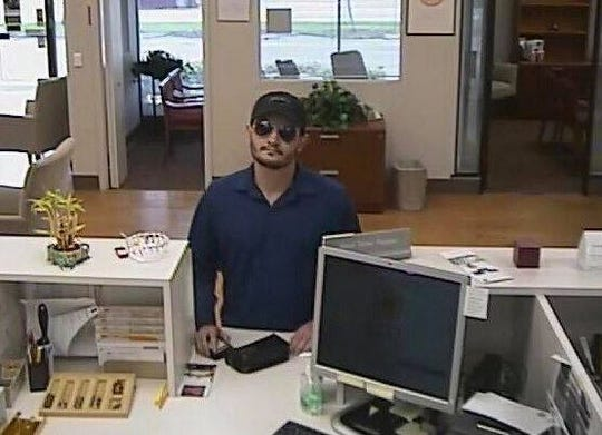 Southwest Florida Crime Stoppers is looking for this man in relation to a robbery at BB&T Bank on McGregor Boulevard in Fort Myers on Friday, Aug. 9, 2019.