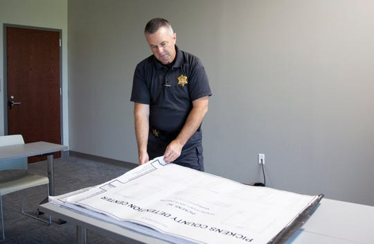 Sheriff Rick Clark gives a tour of the new Pickens County Sheriff's Office Detention Center Friday, August 9, 2019.