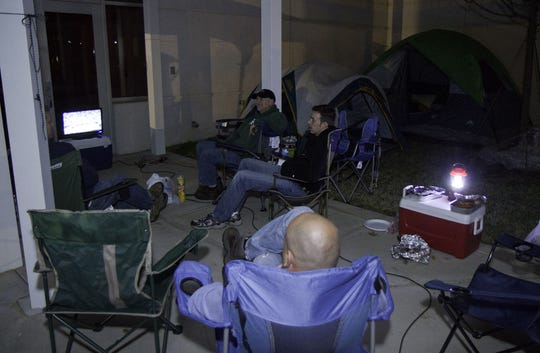 in this 2011 archived photo, parents camp out at A.J. Whittenberg Elementary School in Greenville so they will be first in line to have a chance at register their children for the school.
