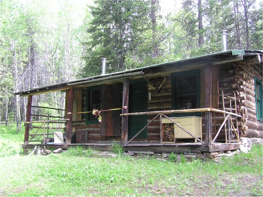 The Kenck Cabin, located at the end of Benchmark Road, is popular Forest Service rental cabin.