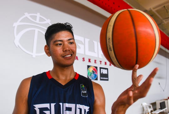 Ben Borja, Guam's only double gold medalist from the XVI Pacific Games, at the Guam Basketball National Training Center in Tiyan on Thursday, Aug. 8, 2019. Borja brought home the gold after competing in 5X5 and 3X3 basketball contests during the games at Samoa, back in July 2019.