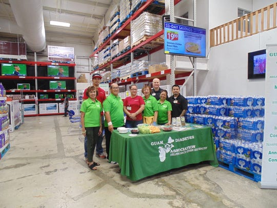 Cost-U-Less provided the medical  supplies and diced fruit platter to the participants. Pictured with GDA: Raul Mercado, CUL staff;  Steve Schmidt, CUL store manager and Floyd Quitugua, CUL staff.
