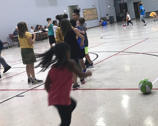 Henderson County students play games and socialize at the Boys and Girls Club of Henderson (Aug. 8, 2019).
