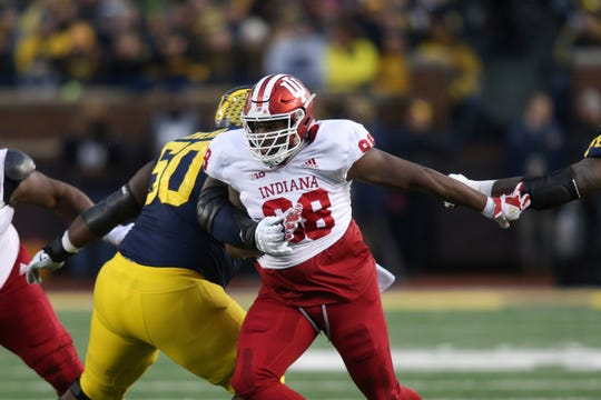 Hoosiers defensive lineman Jerome Johnson (98) led the team with 3.5 sacks in 2018.